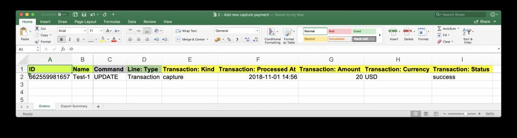 Update Shopify Order - add capture transaction