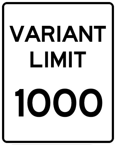 variant limit
